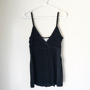 WHBM Black Tank with Side Paneling